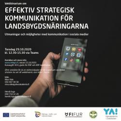 Effektiv strategisk kommunikation för landsbygdsnäringarna